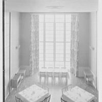 Goucher College, Mary Fisher Hall, Towson, Maryland. Dining room from above I