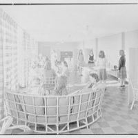 Goucher College, Mary Fisher Hall, Towson, Maryland. Recreation room with figures I