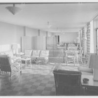 Goucher College, Mary Fisher Hall, Towson, Maryland. Recreation room without figures II