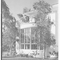 Harry Doehla, residence at Sunset Island, no. 3, Miami Beach, Florida. Detail of south bay