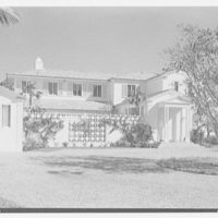 Harry Doehla, residence at Sunset Island, no. 3, Miami Beach, Florida. Entrance facade from left