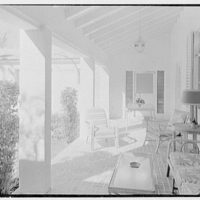 Harry Doehla, residence at Sunset Island, no. 3, Miami Beach, Florida. Loggia