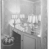 Harry Doehla, residence at Sunset Island, no. 3, Miami Beach, Florida. Powder room dressing table