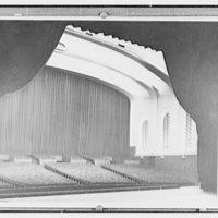 Indiana University Auditorium. Auditorium from stage, curtain closed