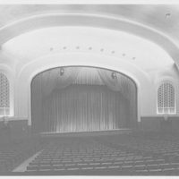 Indiana University Auditorium, Bloomington, Indiana. Auditorium, to stage II