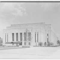 Indiana University Auditorium, Bloomington, Indiana. Main entrance facade from right