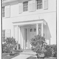 J.F. Bauder, residence at 1695 Tigertail Ave., Coconut Grove, Miami, Florida. Entrance detail
