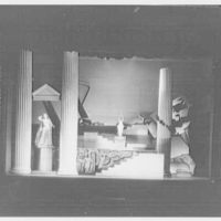 Juilliard School, 125 Claremont Ave., New York City. Iphigenia, third act set, empty I, from center