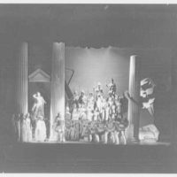 Juilliard School, 125 Claremont Ave., New York City. Iphigenia, third act set with company
