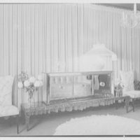 Leonard Hutton, residence at 69 E. 57th St., New York, New York. Glass commode