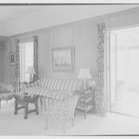 Marion Sims Wyeth, residence on Woodbridge Rd., Palm Beach, Florida. Living room II