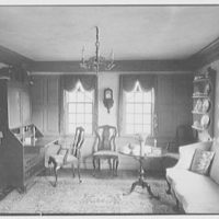 Mr. A.O. Knudsen, residence in Old Lyme, Connecticut. Guest house living room, to secretary