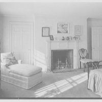 Mr. Frank Audibert, residence in Greenfield Hill, Fairfield, Connecticut. Bedroom, to fireplace