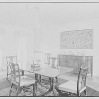 Mr. Frank Audibert, residence in Greenfield Hill, Fairfield, Connecticut. Dining room, to sideboard