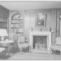 Mr. Frank Audibert, residence in Greenfield Hill, Fairfield, Connecticut. Library, to fireplace