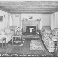 Mr. Leon Israel, residence in Gladstone, New Jersey. Living room, to fireplace