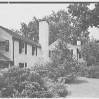 Mr. Leon Israel, residence in Gladstone, New Jersey. Rear facade, close-up