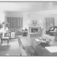 Mr. Samuel Strisik, residence at 195 E. Bay Blvd., Atlantic Beach, New York. Dining section, to living section