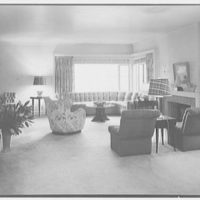 Mr. Samuel Strisik, residence at 195 E. Bay Blvd., Atlantic Beach, New York. Living room, to picture window