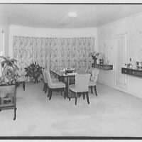 Mr. Samuel Strisik, residence at 195 E. Bay Blvd., Atlantic Beach, New York. Living room, to dining section