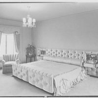 Mr. Samuel Strisik, residence at 195 E. Bay Blvd., Atlantic Beach, New York. Master bedroom, view to bed