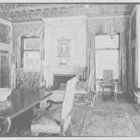 Mrs. Edward Harkness, residence at 1 E. 75th St., New York City. Dining room, to fireplace