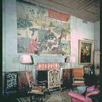 Mrs. Edward Harkness, residence at 1 E. 75th St., New York City. Interior X