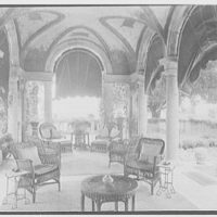 "Mrs. Edward S. Harkness, ""Eolia"", residence in New London, Connecticut. Loggia"
