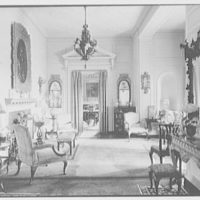 "Mrs. Edward S. Harkness, ""Eolia"", residence in New London, Connecticut. Long gallery, to dining room"