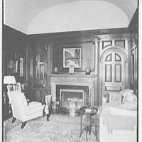 "Mrs. Edward S. Harkness, ""Eolia"", residence in New London, Connecticut. Mr. Harkness' study, to fireplace"
