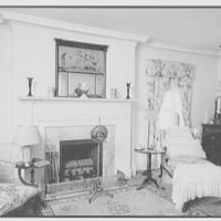"""Mrs. Edward S. Harkness, """"Eolia"""", residence in New London, Connecticut. Sister's room, to fireplace"""