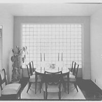 Mrs. Hansen Bang, residence at 176 E. Bay Blvd., Atlantic Beach, New York. Dining section