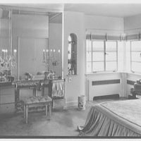 Mrs. Hansen Bang, residence at 176 E. Bay Blvd., Atlantic Beach, New York. Mrs. Hansen's bedroom