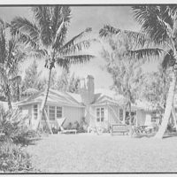 Mrs. Worthington Scranton, residence in Hobe Sound, Florida. Beach facade II
