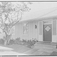 Mrs. Worthington Scranton, residence in Hobe Sound, Florida. Entrance detail
