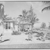 Mrs. Worthington Scranton, residence in Hobe Sound, Florida. House and ocean