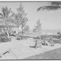 Mrs. Worthington Scranton, residence in Hobe Sound, Florida. Ocean, over terrace, from right