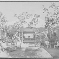 Mrs. Worthington Scranton, residence in Hobe Sound, Florida. Patio, to ocean II