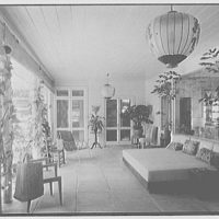 Mrs. Worthington Scranton, residence in Hobe Sound, Florida. West loggia
