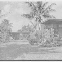 Prince and Princess Alexis Zalstem-Zalessky, residence in Palm Beach, Florida. East facade, to guest house