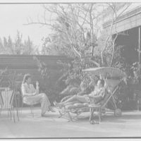 Prince and Princess Alexis Zalstem-Zalessky, residence in Palm Beach, Florida. Prince and princess in patio II