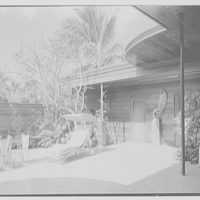 Prince and Princess Alexis Zalstem-Zalessky, residence in Palm Beach, Florida. Patio toward entrance