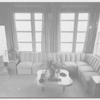 Prince and Princess Alexis Zalstem-Zalessky, residence in Palm Beach, Florida. Living room, to ocean