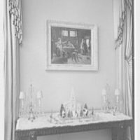 Robert M. Hillas, Indian Harbor, residence in Greenwich, Connecticut. Dining room side table detail