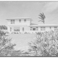 Robert Scott, residence in Vero Beach, Florida. Beach facade