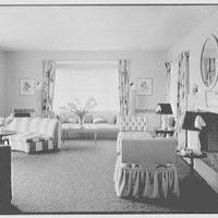 Robert Scott, residence in Vero Beach, Florida. Living room, from dining room