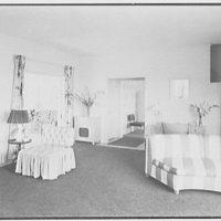 Robert Scott, residence in Vero Beach, Florida. Living room, toward dining room