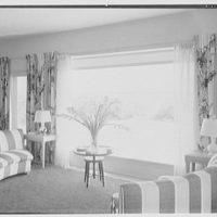 Robert Scott, residence in Vero Beach, Florida. Living room, toward window