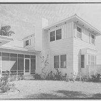 Robert Scott, residence in Vero Beach, Florida. Patio view