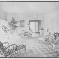 Robert Scott, residence in Vero Beach, Florida. Porch, to entrance
